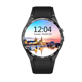 KW88 Akıllı İzle Quad-Core Android 5.1 Akıllı Saat 400*400 Smartwatch Wifi Bluetooth 4.0 Kol Heartrate 2.0MP kamera